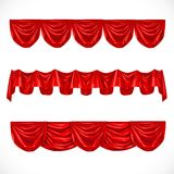 Red pelmet on a white background Royalty Free Stock Image