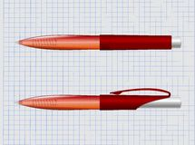 Red pen Royalty Free Stock Photos