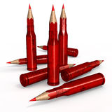 Red Pen Ammunition Stock Image