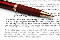 Red Pen and Contract Stock Images