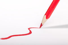 Red Pen draw red line Stock Photography