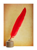 Red pen in the ink Royalty Free Stock Photography