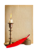 Red pen and ink Royalty Free Stock Photography