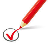 Red Pen Red Tick Stock Images