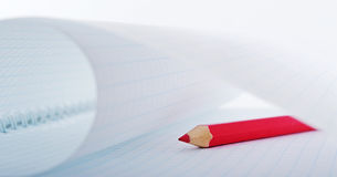 Red pencil. Royalty Free Stock Photography