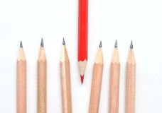 Red and simple pencils Royalty Free Stock Image