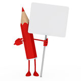 Red pencil billboard Royalty Free Stock Image