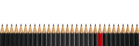 Stand out - pencils  5 Royalty Free Stock Photo
