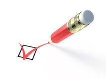 Red pencil checking Stock Photos