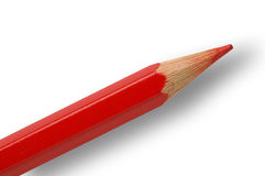 Red pencil closeup Stock Photo