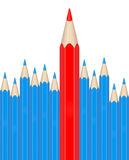 The red pencil Stock Images