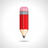 Red pencil with eraser Stock Images