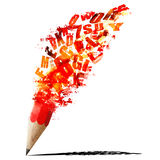 Red pencil fancy Stock Photography