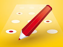 Red pencil with Forms Stock Image