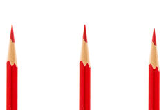 Red pencil isolated on white Stock Photos