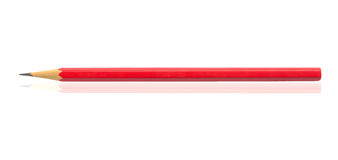 Red pencil isolated on white background Royalty Free Stock Images
