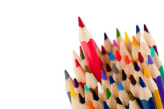 Red pencil - the leader Royalty Free Stock Photos