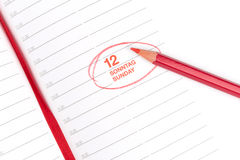 Red pencil and Notebook Royalty Free Stock Photos