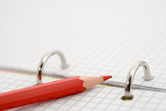 Red pencil for notes Stock Photo
