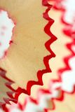 Red pencil peel. The wooden peel of a sharpened red pencil Stock Photos