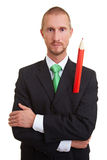Red pencil in pocket Stock Images
