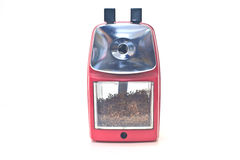 Red pencil sharpener Royalty Free Stock Photo