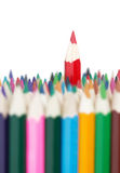 Red pencil stands out Stock Image