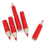Red pencil. On white background Royalty Free Stock Photos