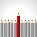 Red pencil  on white background Royalty Free Stock Photos