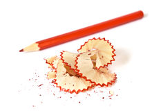 Red pencil on white background Royalty Free Stock Photo