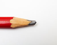 Red pencil on white Stock Image