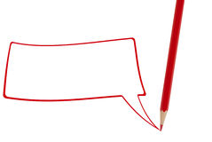 Red pencil writing Royalty Free Stock Photos