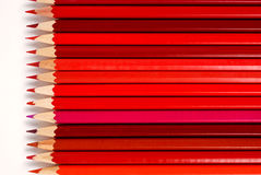 Red pencils. Many red pencils on a white background Royalty Free Stock Photography