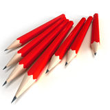Red pencils with black tip Royalty Free Stock Photos