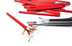 Red pencils Stock Photos