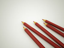 Red pencils concept Stock Image