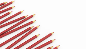 Red pencils concept rendered Stock Images