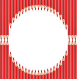 Red Pencils Frame Royalty Free Stock Photo