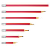 Red pencils Stock Image