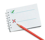 Red pencils and notebook Royalty Free Stock Photo