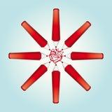 Red pencils Stock Photos