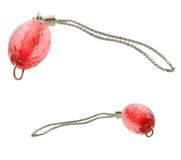 Red pendants. Two red pendants isolated on white Royalty Free Stock Images