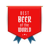 Red pennant. Best beer red pennant or flag. Vector  illustration Royalty Free Stock Photo