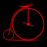 Red Penny Farthing Stock Photo