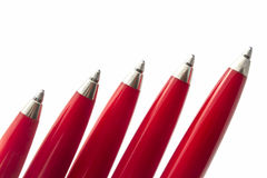 Red Pens Royalty Free Stock Photography