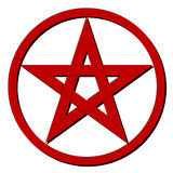 Red pentagram Royalty Free Stock Photography