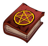 Red Pentagram Book, Vector Illustration. Royalty Free Stock Photo