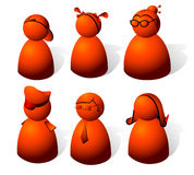 Red people Stock Images