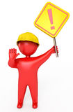 Red people holding a stop sign Stock Images