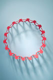 Red people paper chain Royalty Free Stock Image